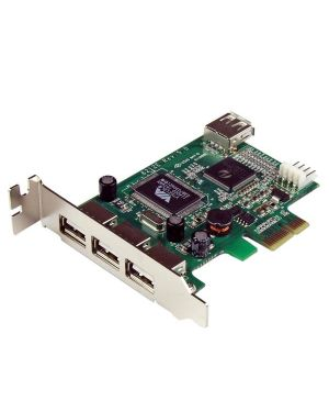 Scheda pci express basso STARTECH - COMP. CARDS AND ADAPTERS PEXUSB4DP 65030836661 PEXUSB4DP_V930910 by Startech.com