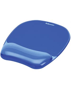 Tappetino mouse con poggiapolsi crystals gel blu FELLOWES 9114120 0077511911415 9114120