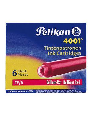 Scatola 6 cartucce inchiostro tp - 6 rosso pelikan 4001 (0atm05 301192 4012700301192 301192