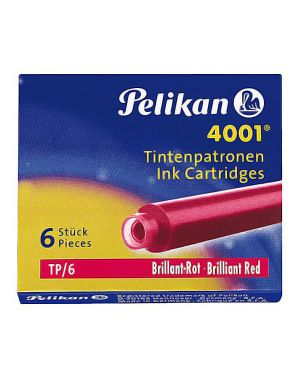Scatola 6 cartucce inchiostro tp - 6 rosso pelikan 4001 (0atm05 301192 4012700301192 301192 by Pelikan