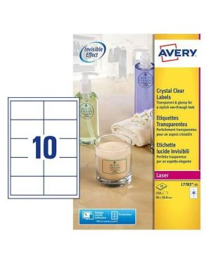 Etichette lucide inv. 96x50.8 mm Avery L7783-25 4004182252659 L7783-25