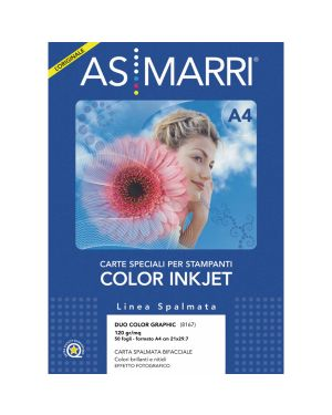 Carta inkjet a4 120gr 50fg duo color graphic photo double-face 8167 marri 8167 8023927081671 8167