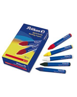 Scatola 12 pastelli industriali 762 rosso pelikan 701029 4012700701022 701029