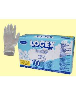 Scatola 100 guanti logex m.grande in lattice monouso B5LX-0702V03 40417A B5LX-0702V03