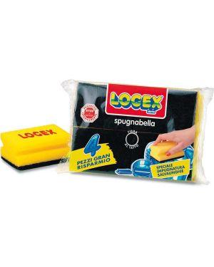 Blister 4 spugnabella logex con impugnatura A4LX-0782 8003350507344 A4LX-0782 by Logex Professional