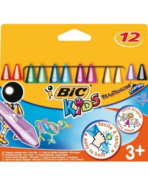 Astuccio 12 pastelli kids plastidecor triangle bic 8297732 3086124000789 8297732