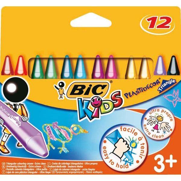 Astuccio 12 pastelli kids plastidecor triangle bic 8297732 3086124000789 8297732 by Bic Kids