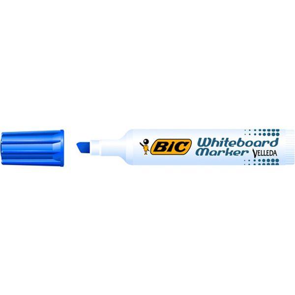 Pennarello velleda 1791 punta scalpello whiteboard blu bic 943194 47361 A 943194-1 by Bic