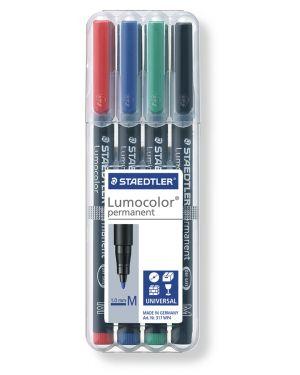 Busta 4 pennarelli lumocolor permanent 317 m 1.0mm 317WP4 4007817310380 317WP4