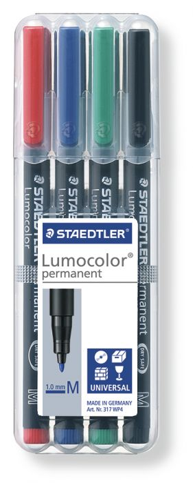 Busta 4 pennarelli lumocolor permanent 317 m 1.0mm 317WP4 4007817310380 317WP4 by Staedtler