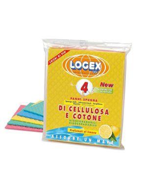 Busta 4 panni spugna logex 18x20cm A3LX-2107 8003350534951 A3LX-2107