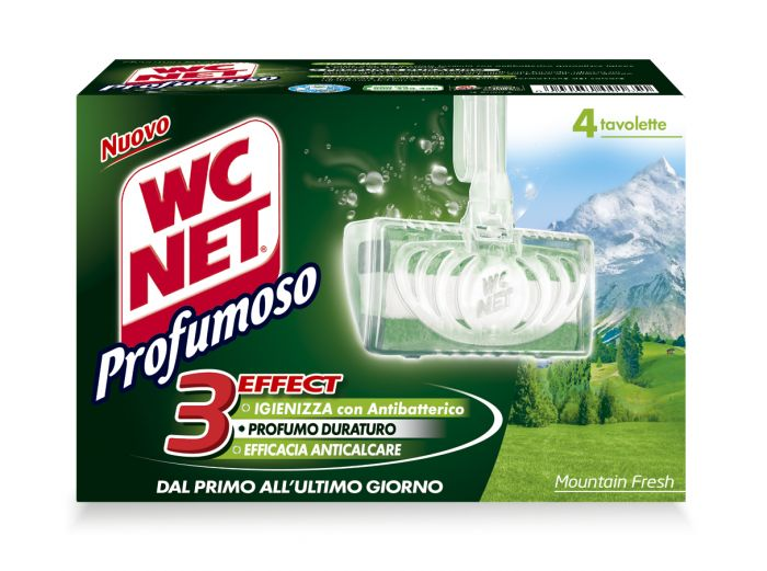 Wc net tavoletta profumoso montain fresh (4x34gr M74603 8004050001651 M74603 by Wc Net