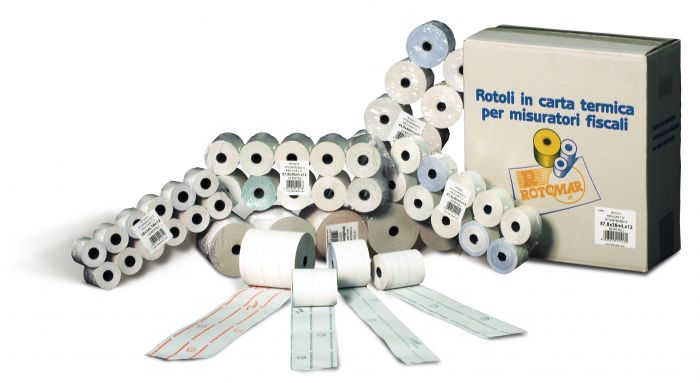 Blister 10 rotoli carta termica 57mmx20mt x pos - carte di credito PT105700200129 8023215360075 PT105700200129 by Rotomar