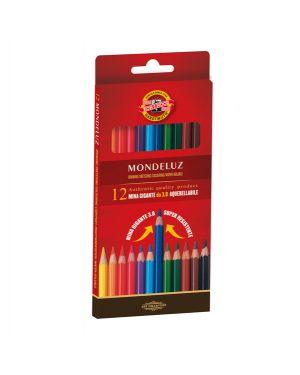 Astuccio 12 matite colorate acquarello kohinoor H2139N 8032173017846 H2139N