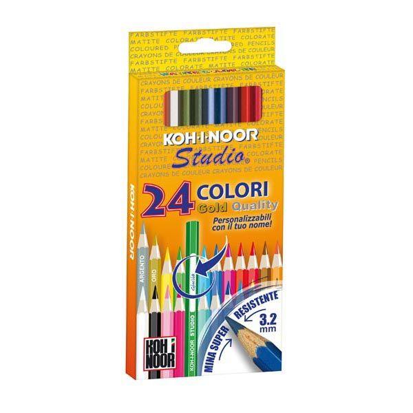Astuccio 24 matite colorate studio gold kohinoor DH3325 8032173017341 DH3325 by Koh.i.noor