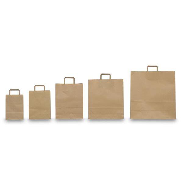 Blister 25 shoppers 18x8x25cm avana neutro piattina 31373 8029307031373 31373 by Cartabianca
