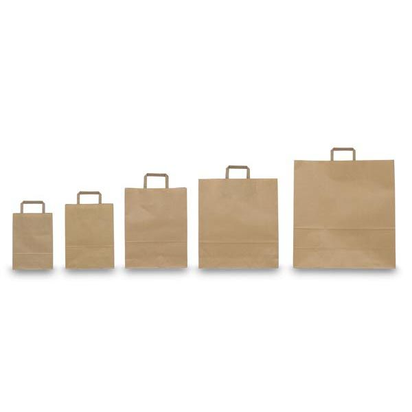 Blister 25 shoppers 45x15x50cm avana neutro piattina 34930 8029307034930 34930 by Cartabianca
