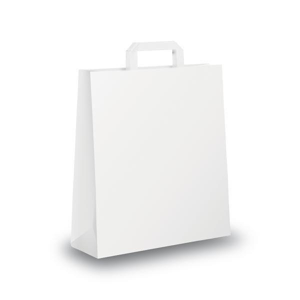 Blister 25 shoppers 18x8x25cm bianco neutro piattina 31243 8029307031243 31243 by Cartabianca