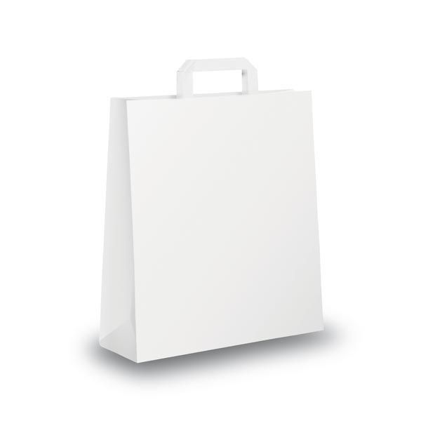 Blister 25 shoppers 36x12x41cm bianco neutro piattina 31359 8029307031359 31359 by Cartabianca