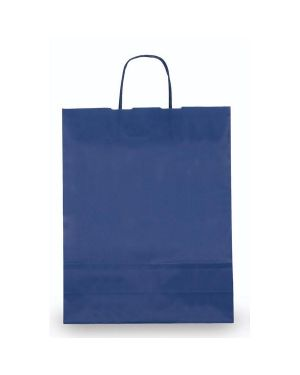 25 shoppers carta kraft 22x10x29cm twisted blu 37269 8029307037269 37269 by Cartabianca