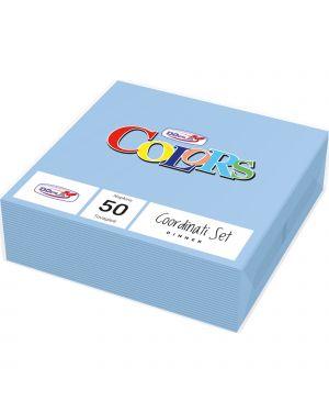 50 tovaglioli carta 33x33cm 2 veli azzurro dopla 18302 8008650435182 18302