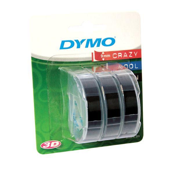 Blister 3 nastri a rilievo 9mmx3m nero dymo S0847730 3501170847732 S0847730 by Dymo