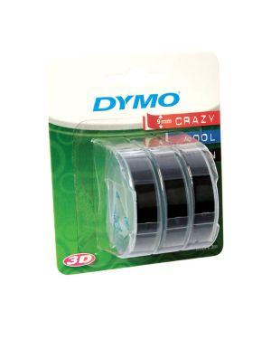 Blister 3 nastri a rilievo 9mmx3m nero dymo S0847730 3501170847732 S0847730