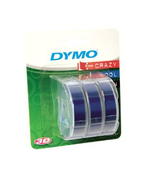 Blister 3 nastri a rilievo 9mmx3m blu dymo S0847740 3501170847749 S0847740