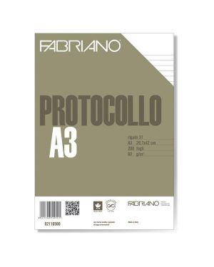 Protocollo a4 1rigo 200fg 60gr fabriano 2110560 8001348149101 2110560 by Fabriano
