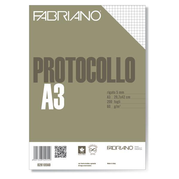 Protocollo a4 5mm 200fg 60gr fabriano 2810560 8001348149149 2810560 by Fabriano
