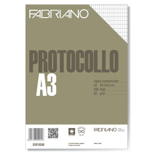 Protocollo a4 commerciale 200fg 60gr fabriano 2910560 8001348149156 2910560 by Fabriano