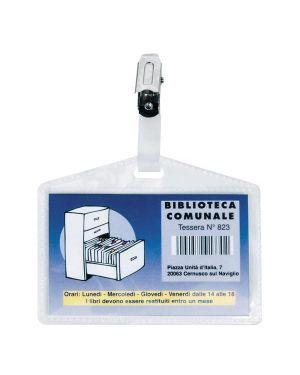 5 portanome pass 3p 9,5x6cm c - clip in metallo s - cartoncino sei rota 318409 8004972019765 318409