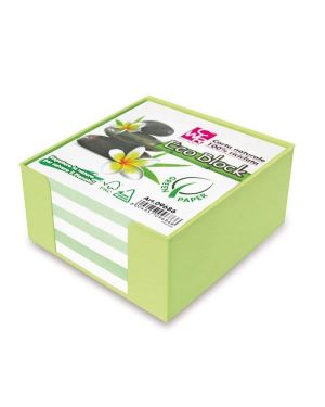 Box colorato c - foglietti carta 100 riciclata 10x10x5cm cwr 9686 8004957096866 9686