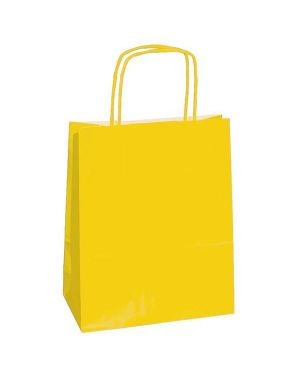 25 shoppers carta kraft 26x11x34,5cm twisted giallo 37382 8029307037382 37382