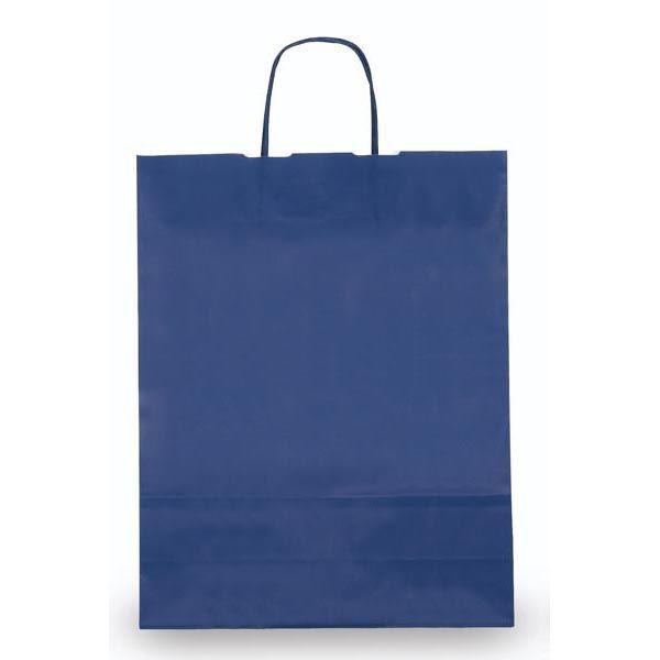 25 shoppers carta kraft 26x11x34,5cm twisted blu 37368 8029307037368 37368 by Cartabianca