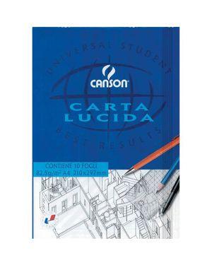 Blocco carta lucida manuale 210x297mm 10fg 80gr canson C200005825 3148950058256 C200005825