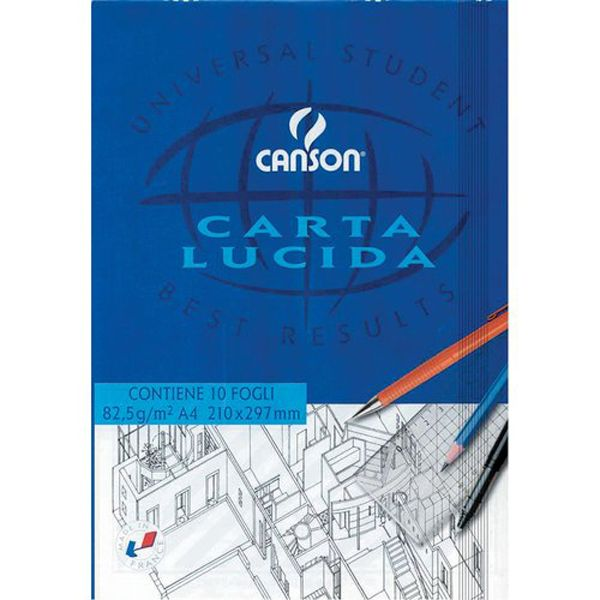 Blocco carta lucida manuale 210x297mm 10fg 80gr canson C200005825 3148950058256 C200005825 by Canson
