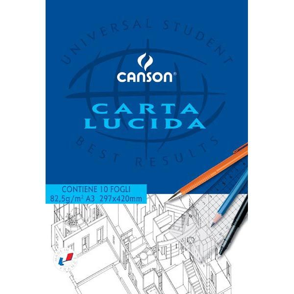 Blocco carta lucida manuale 297x420mm 10fg 80gr canson C200005827 3148950058270 C200005827 by Canson