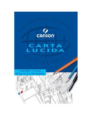 Blocco carta lucida manuale 297x420mm 10fg 80gr canson C200005827 3148950058270 C200005827
