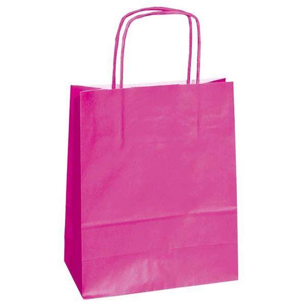 25 shoppers carta kraft 22x10x29cm twisted magenta 37313 8029307037313 37313 by Cartabianca