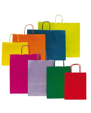 25 shoppers carta kraft 36x12x41cm twisted magenta 73885 8029307073885 73885