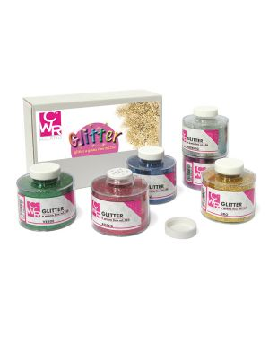 Set 6 barattoli glitter grana fine ml150 colori assortiti art 05404 cwr 5404 8004957054040 5404