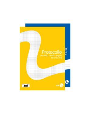Fogli protocollo a4 60gr 20fg 5mm bm 100259 8008234002595 100259