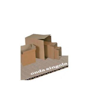 Scatola cartone per imballo avana onda singola p500xl357xh273mm 143438  143438