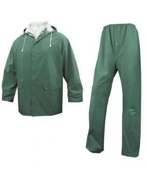 Completo impermeabile en304 tg. l verde (giacca+pantalone EN304VEGT2 3295249128302 EN304VEGT2