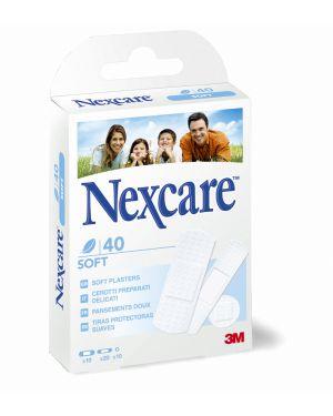 Box 40 cerotti soft bianchi in tnt assortiti nexcare 7000114776 74582 A 7000114776