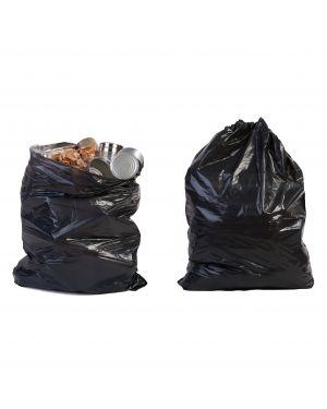Scatola da 10kg di sacchi immondizia 50µ 70x110 120lt nero 229  229