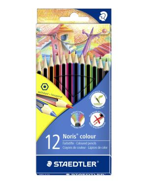Astuccio 12 matite noris colour in wopex colori assortiti staedtler 185C12 4007817185124 185C12