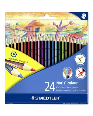 Astuccio 24 matite noris colour in wopex colori assortiti staedtler 185C24 4007817009215 185C24