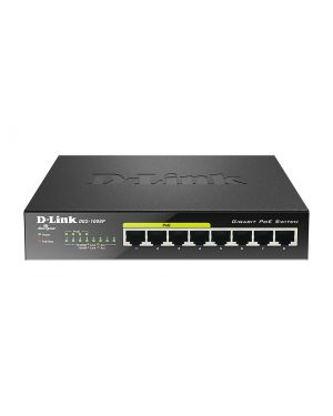 8-port 10 - 100 - 1000mbps desktop D-LINK - RETAIL DGS-1008P 790069344176 DGS-1008P_5843713 by D-link